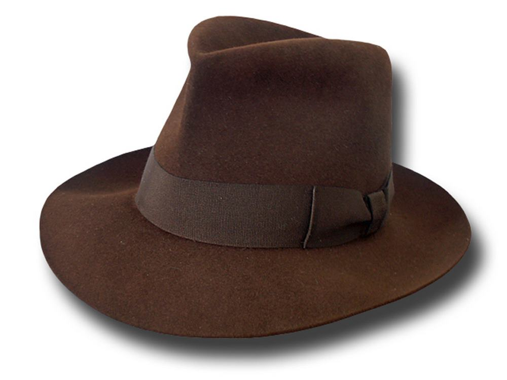 Melegari Indiana Jones Fedora replica Hat hand