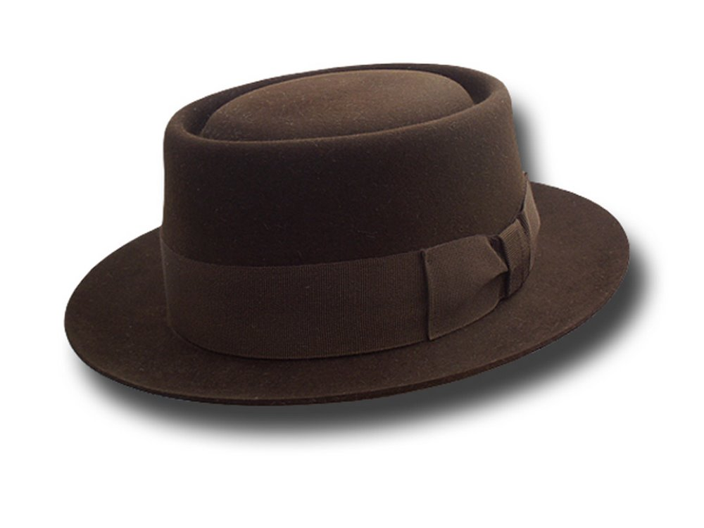 Gene Hackman Pork Pie Hat extra quality Brown