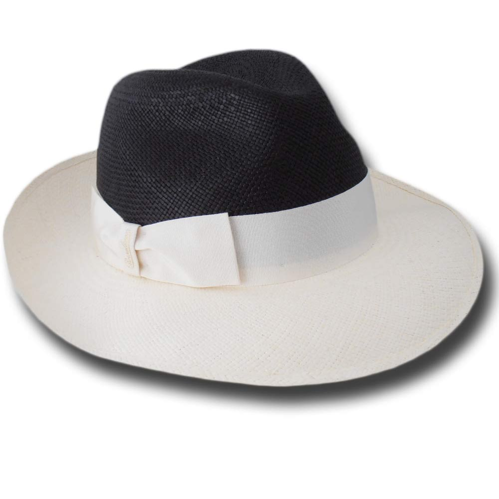 Borsalino 232149 Fedora woman Panama hat Two tone