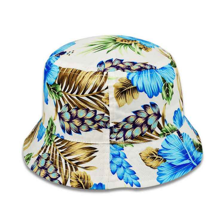 Melegari summer woman cotton cloche hat Ibiscus