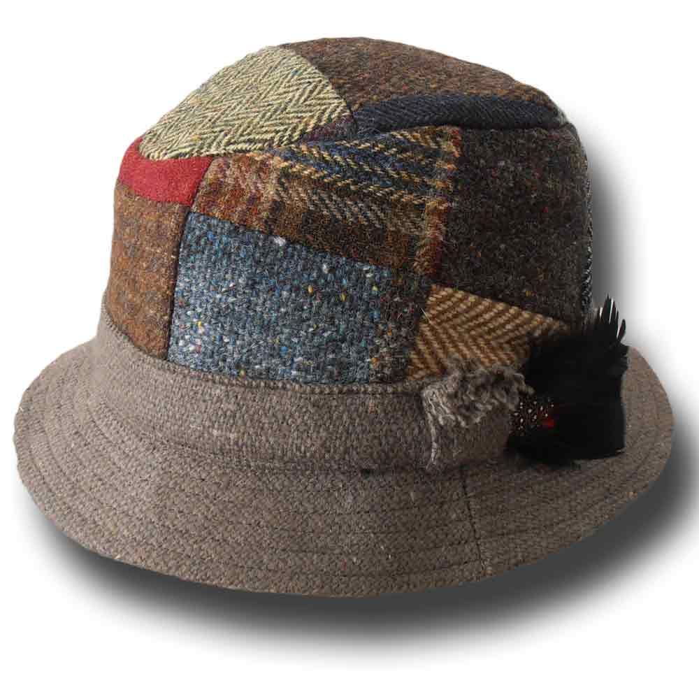 Hanna Hats Irish Patchwork Tweed Dave Hat