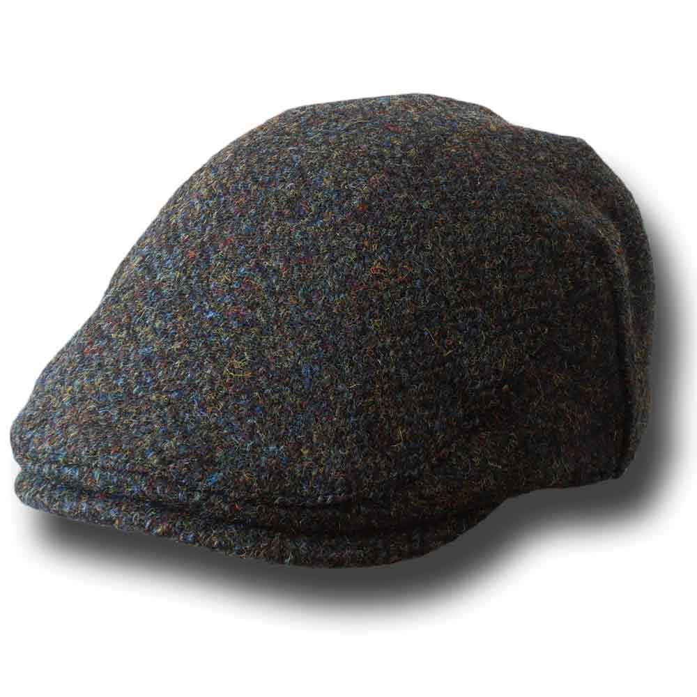 Berretto piatto Highlands Harris Tweed  Verde