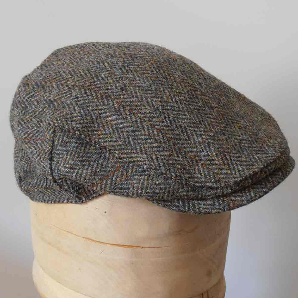 Berretto piatto Highlands Harris Tweed Marrone