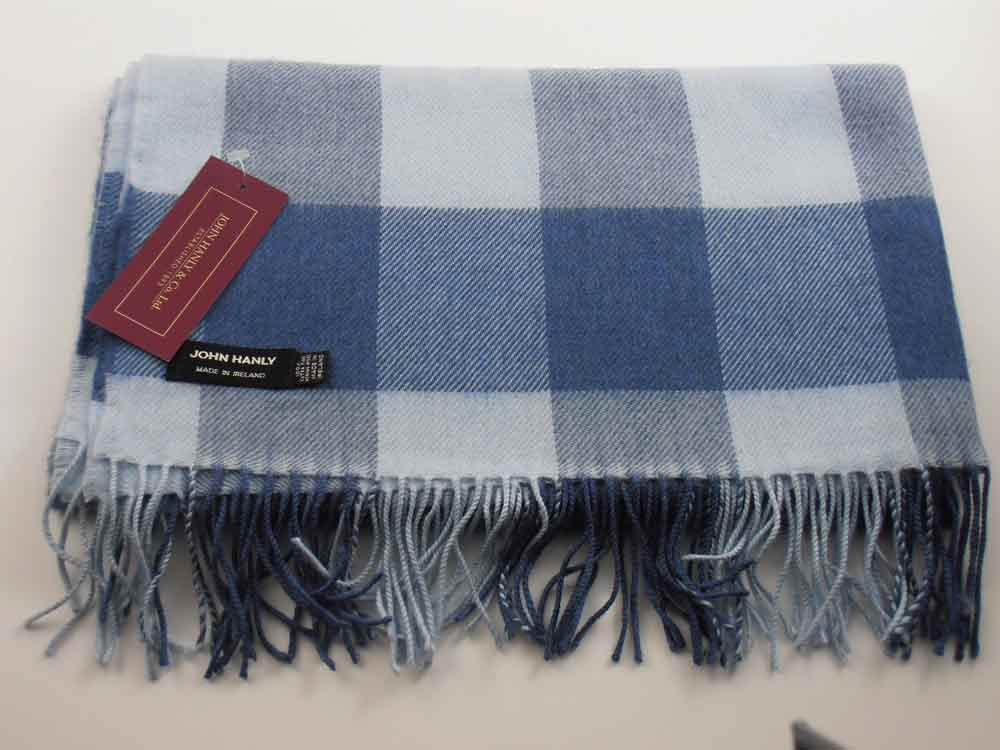 John Hanly Merino wool Checkered shawl