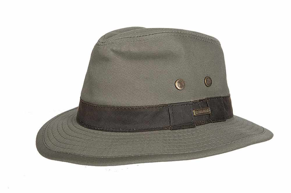 Hatland Okaton Cotton hat Green
