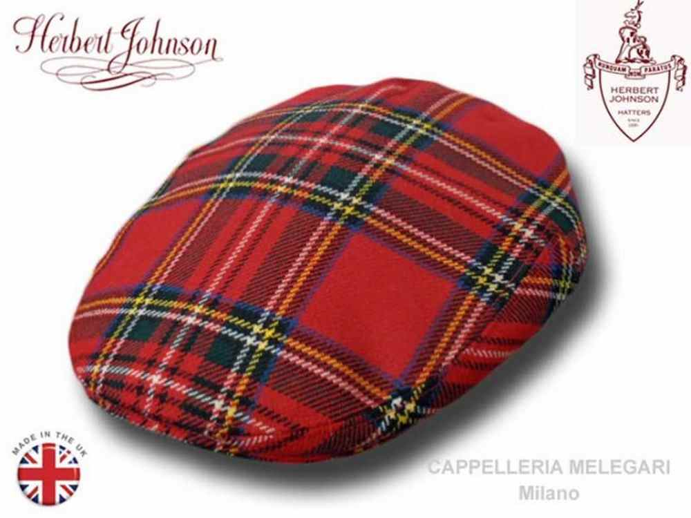 Casquette Herbert Johnson London tweed Royal S
