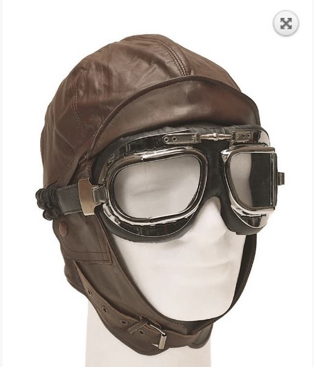 Leder Aviation Helm