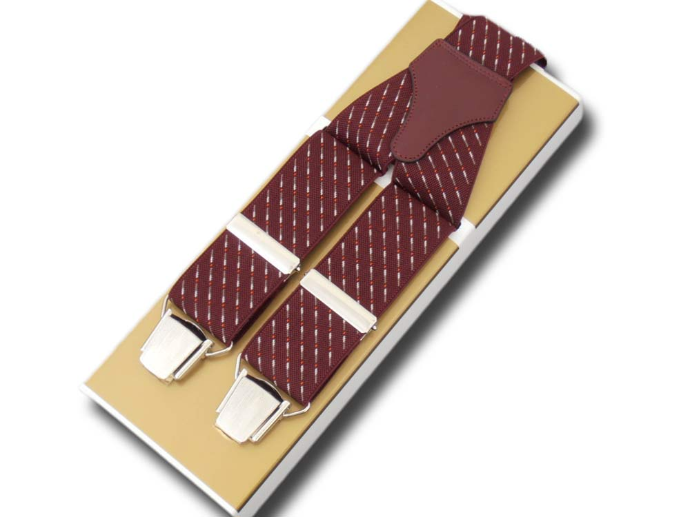 Braces wide men's Paris fantasy Dark red point