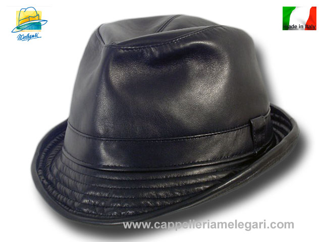 Brad Pitt Trilby Snatch soft Hat leather Made