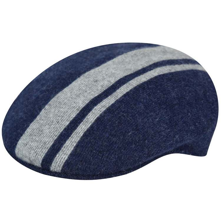 Kangol Code Stripe 504 Wolle Cap Blau marine 3f692a7266fa