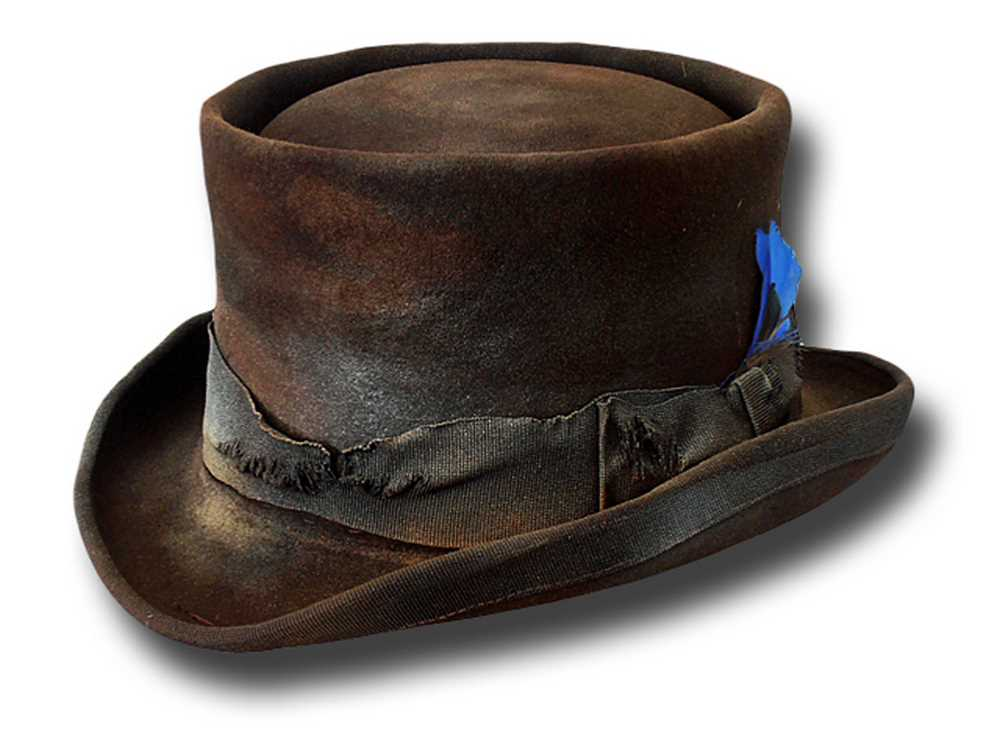 Western Desert Rat Top Hat extra quality Dusty