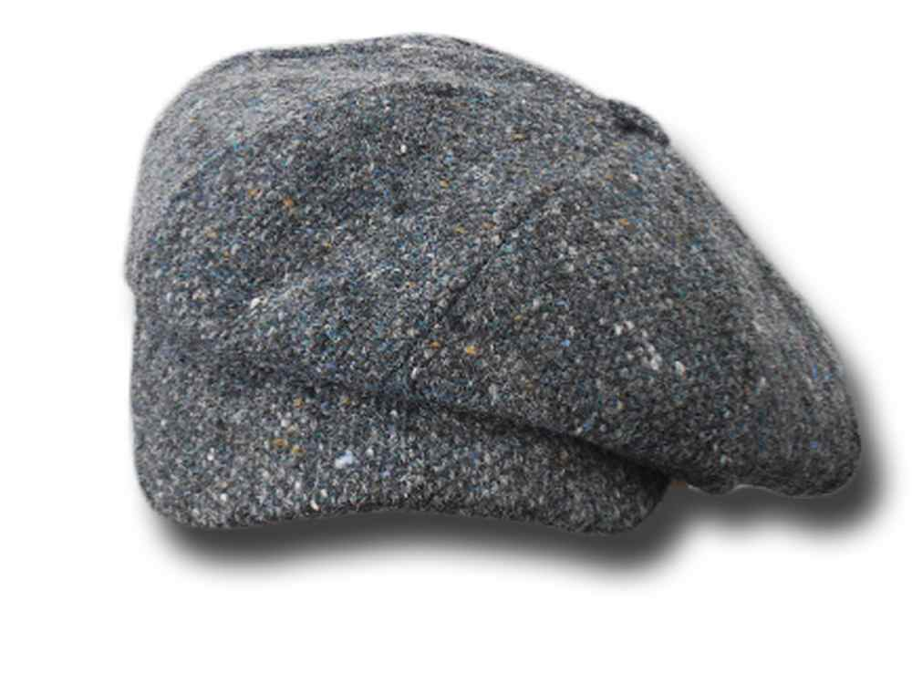 Gatsby Newsboy Depp tweed cap Hanna Hats Dark grey