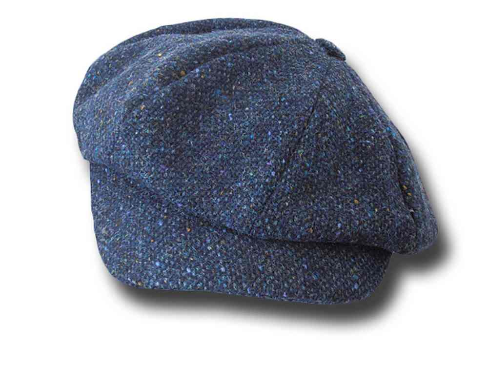 Gatsby Newsboy Depp tweed cap Hanna Hats Blue