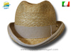 Western natural straw Homburg Hat