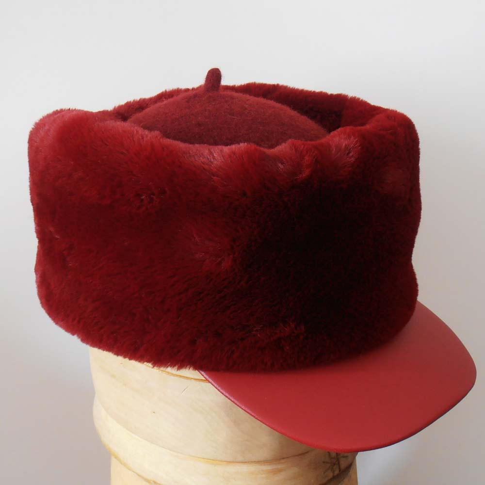 Marzi Firenze Woman hat with leather peak Mim�