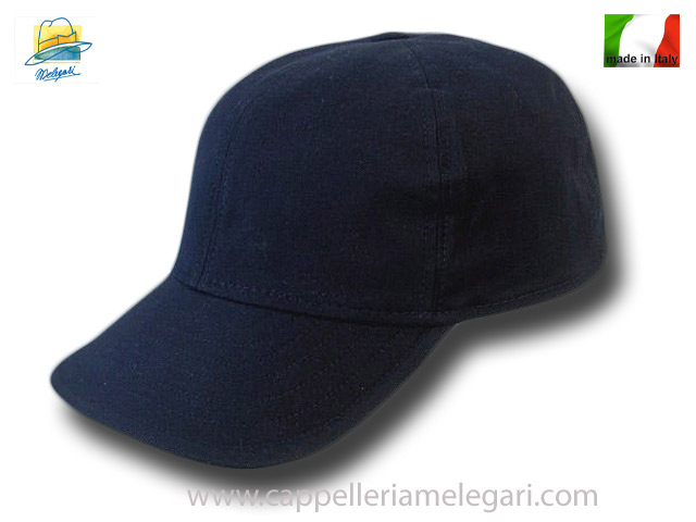 Light cotton baseball cap visor soft pocket blue