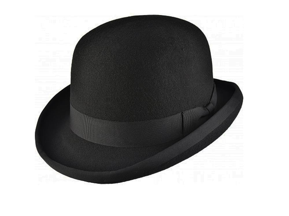 Major Woolfelt bowler Derby hat black