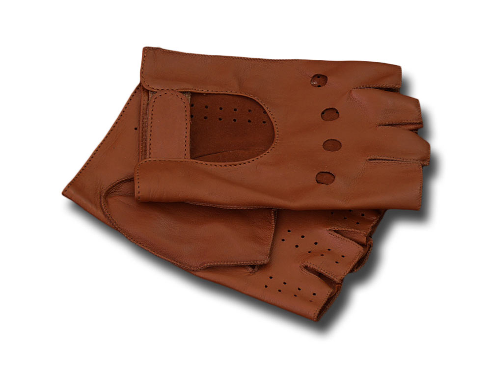 Driving Gloves half finger leather Melegari Br