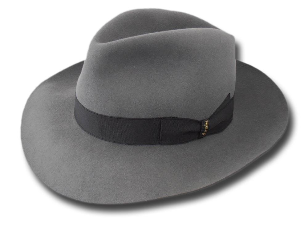 fc340c154d5e6 Borsalino Fedora Hat Superior Quality brim 7