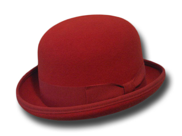 Melegari wool felt Bowler hat Red