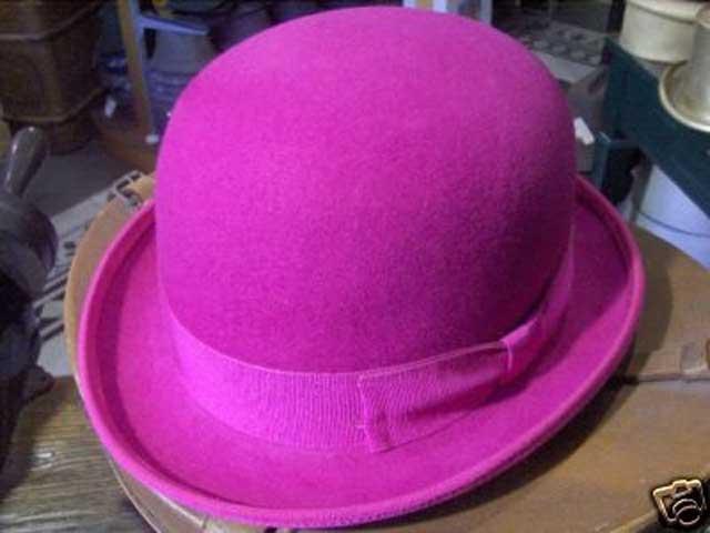 Melegari Cappello a Bombetta in feltro di lana Fucsia  CM01B00FW ... 934a2bda81c1