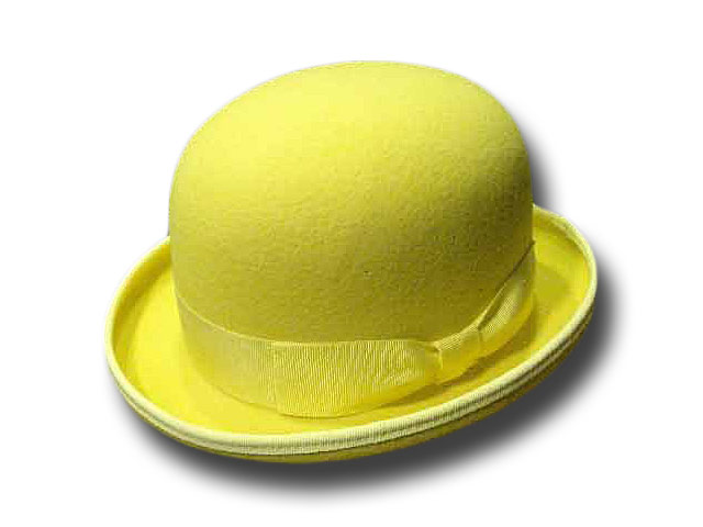 Yellow bowler hat