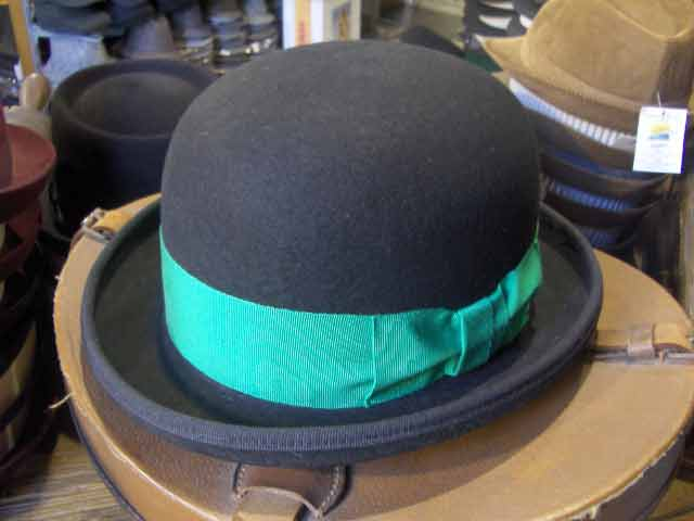 Irish bowler hat in wool felt