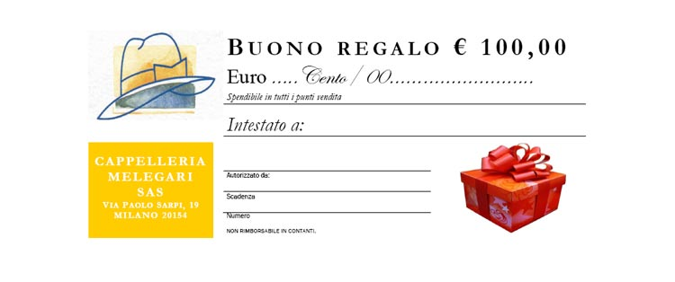 Gift Certificate Euro 100,00