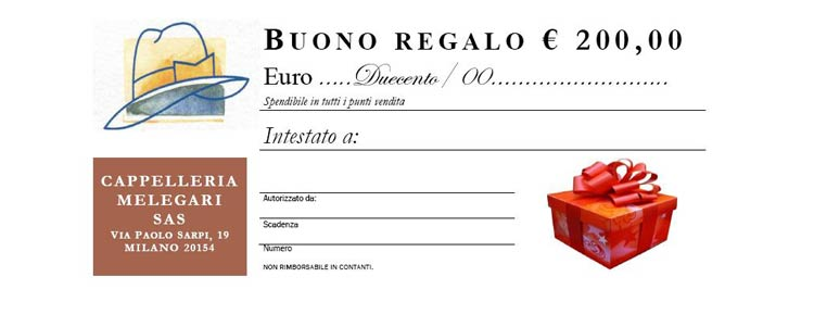 Gift Certificate Euro 200,00