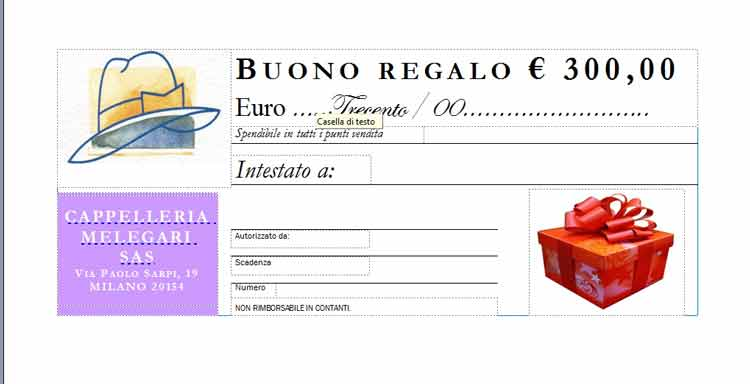 Gift Certificate Euro 300,00