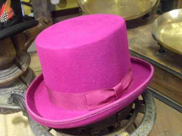 Cappello a cilindro rosa fucxia in feltro di lana  cilindro-fucxia ... 674832aab139
