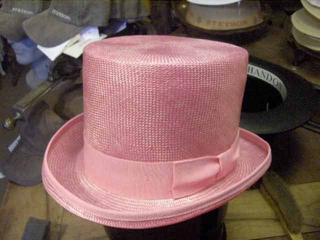 Melegari Straw top hat Pink