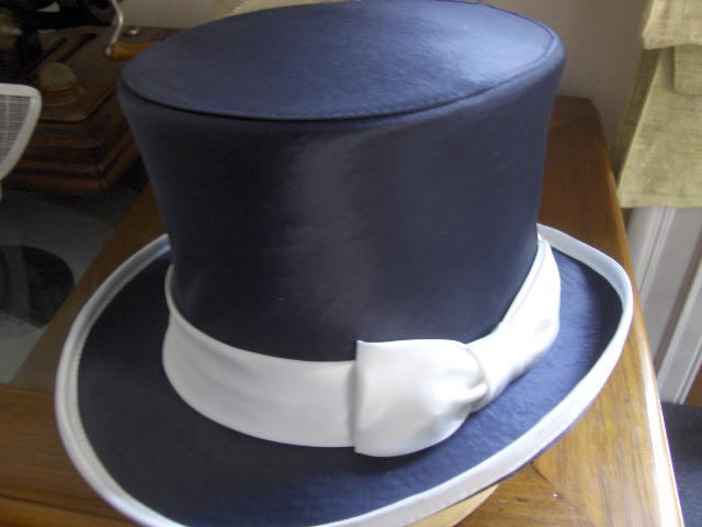 Top Hat silk bicolor hight quality handmade we
