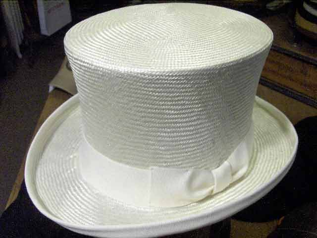 Top hat natural straw top quality wedding