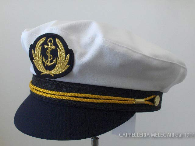 Casquette homme Yachtman marin Crambes blanc