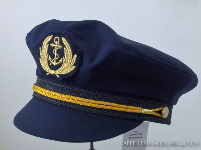 Crambes Summer cap man sailor cap Yachtman blue