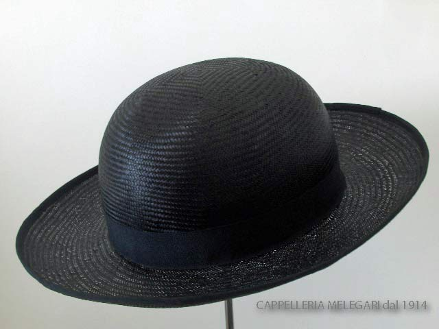 Natural Straw Saturn priest hat hand made