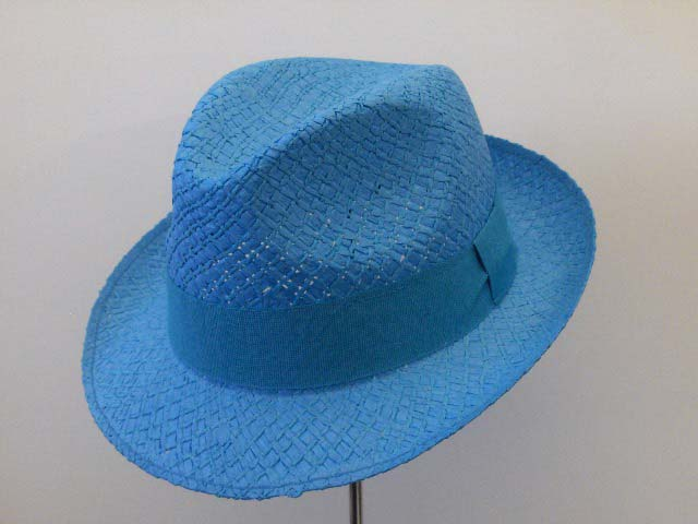 Pseudo panama extra trilby hat brim 5 cm colored