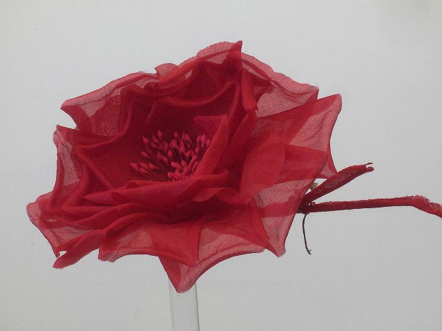 hat flower millinery fascinators red