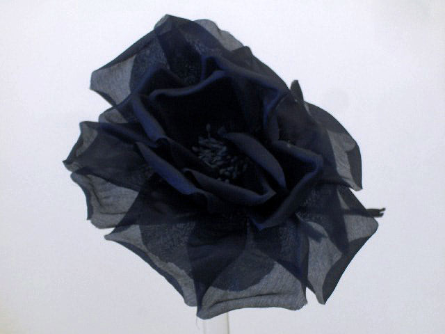 hat flower millinery fascinators navy