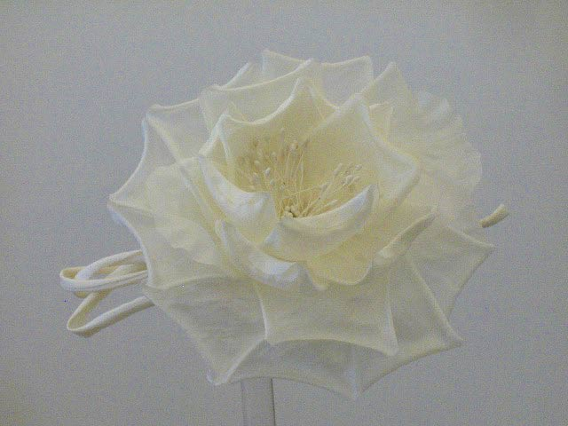 hat flower millinery fascinators ivory