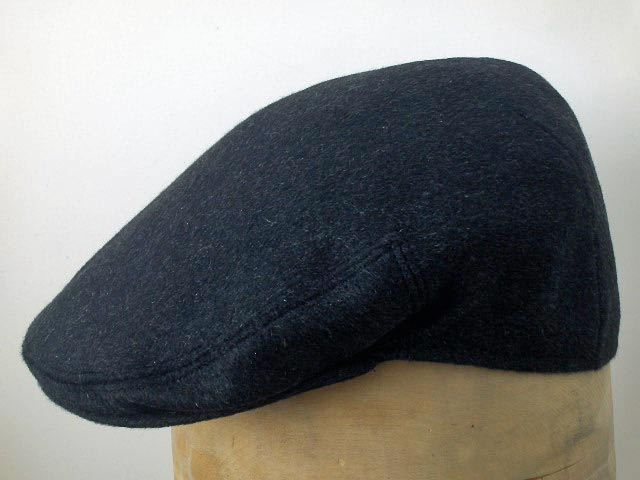 Wool and cashmere Milano flat cap Dark gray