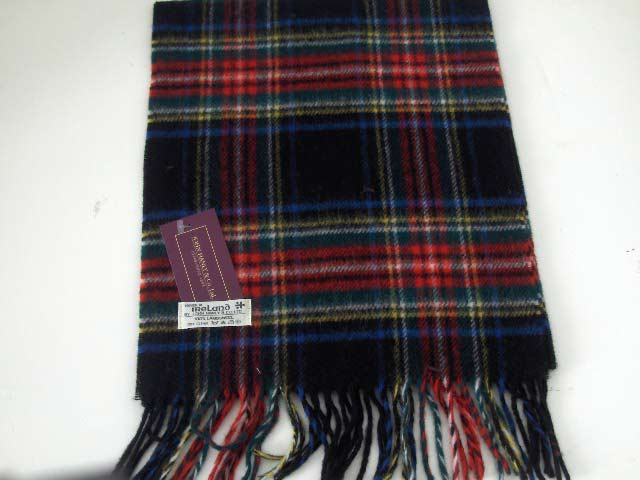 Lambswool Irish tartan scarf J.Hanly 11