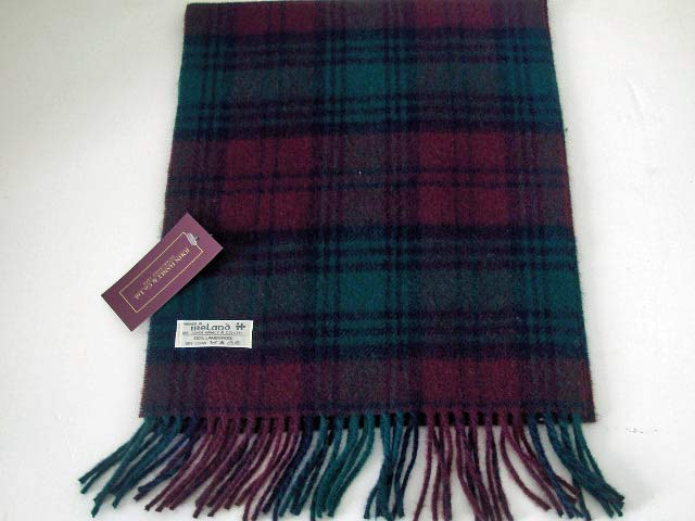 John Hanly Lambswool Irish tartan scarf 10