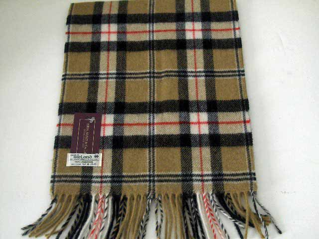 Lambswool Irish tartan scarf J.Hanly 9
