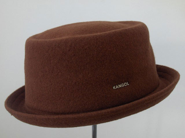 Kangol Porkpie Mowbray wolle hut Braun