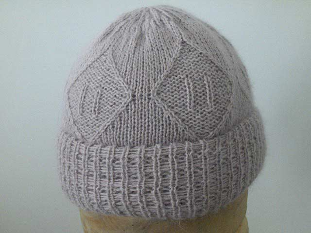 Women's wool and angora hat beanie
