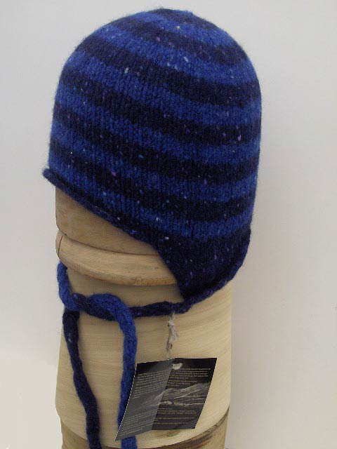 Beanie roll hat Irish earflap donegal