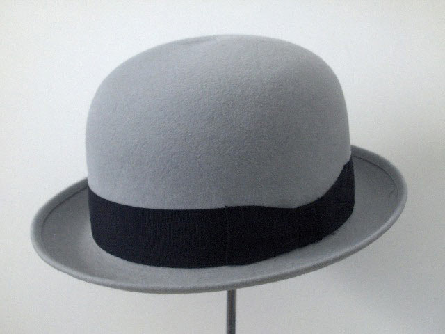 Top quality fur felt Latin bowler hat Grey