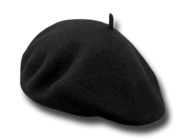 Beret unisex wool indian flat 27 cm